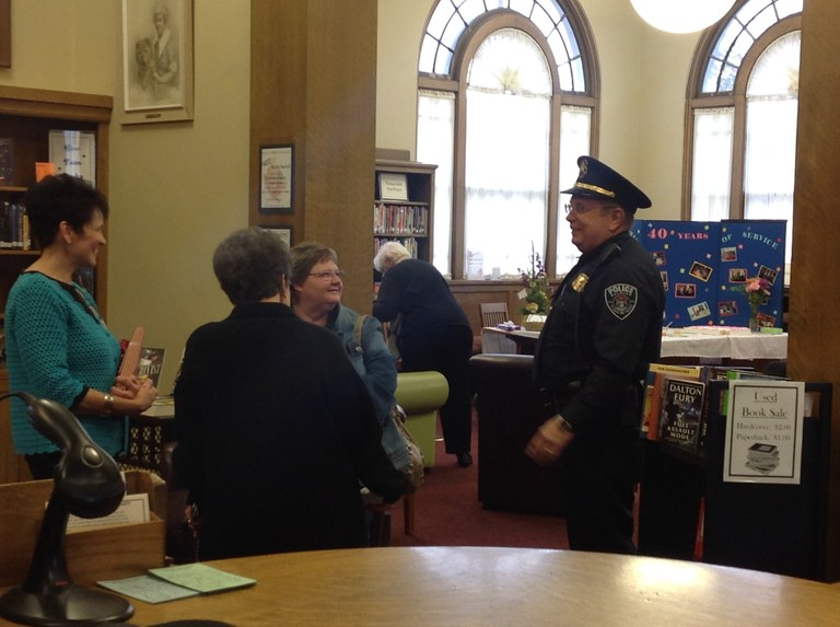Betty, Kim Raths, Joyce Winnie, and Chief Nelson.JPG