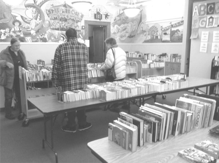 Booksale b&w